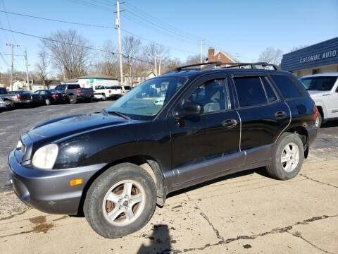 2002 Hyundai Santa Fe for sale at COLONIAL AUTO SALES in North Lima OH