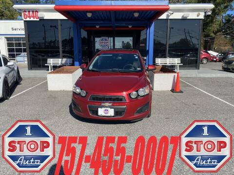 2015 Chevrolet Sonic for sale at 1 Stop Auto in Norfolk VA