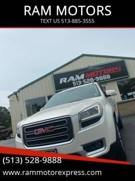 2013 GMC Acadia for sale at RAM MOTORS in Cincinnati OH