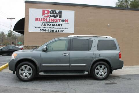 2014 Nissan Armada for sale at Burlington Auto Mart in Burlington NC