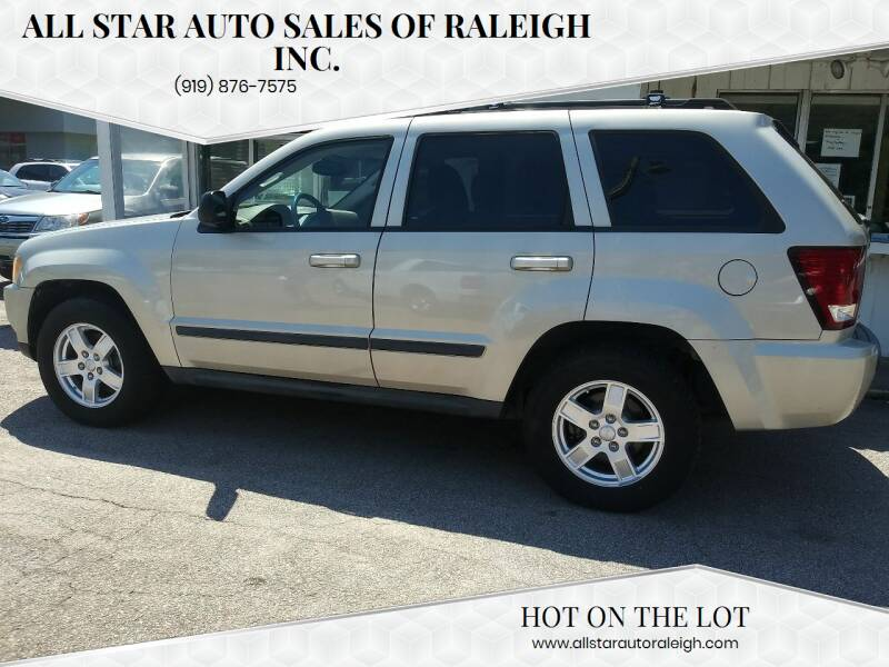 2007 Jeep Grand Cherokee for sale at All Star Auto Sales of Raleigh Inc. in Raleigh NC