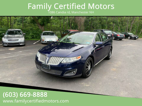 2011 Lincoln MKS for sale at Family Certified Motors in Manchester NH