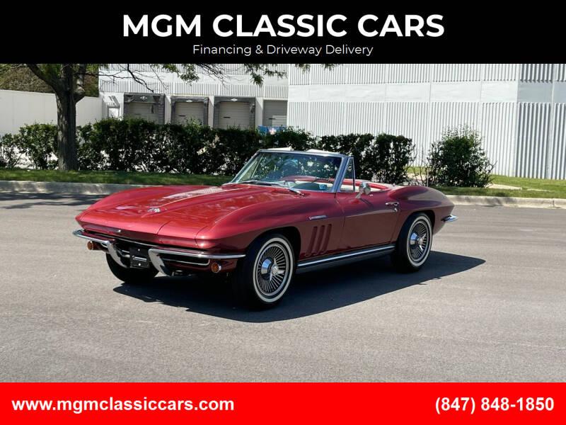 1965 Chevrolet Corvette for sale at MGM CLASSIC CARS in Addison IL