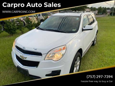 2010 Chevrolet Equinox for sale at Carpro Auto Sales in Chesapeake VA