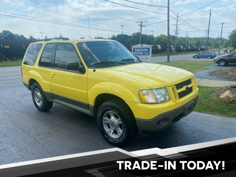2003 Ford Explorer Sport for sale at SIMPSON MOTORS in Youngstown OH