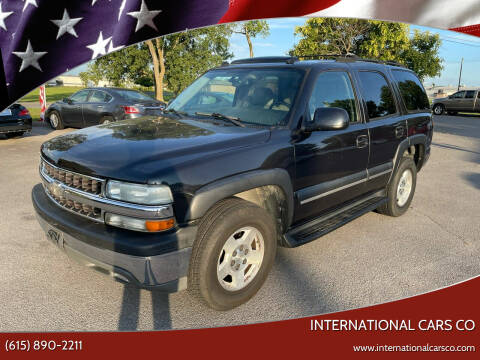 2004 Chevrolet Tahoe for sale at International Cars Co in Murfreesboro TN
