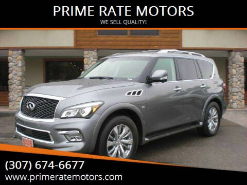 2015 Infiniti QX80 for sale at PRIME RATE MOTORS in Sheridan WY