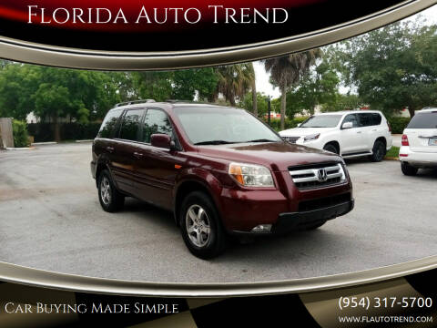 2008 Honda Pilot for sale at Florida Auto Trend in Plantation FL