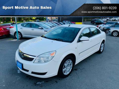 2007 Saturn Aura for sale at Sport Motive Auto Sales in Seattle WA