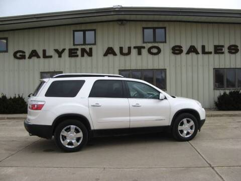 2008 GMC Acadia for sale at Galyen Auto Sales Inc. in Atkinson NE