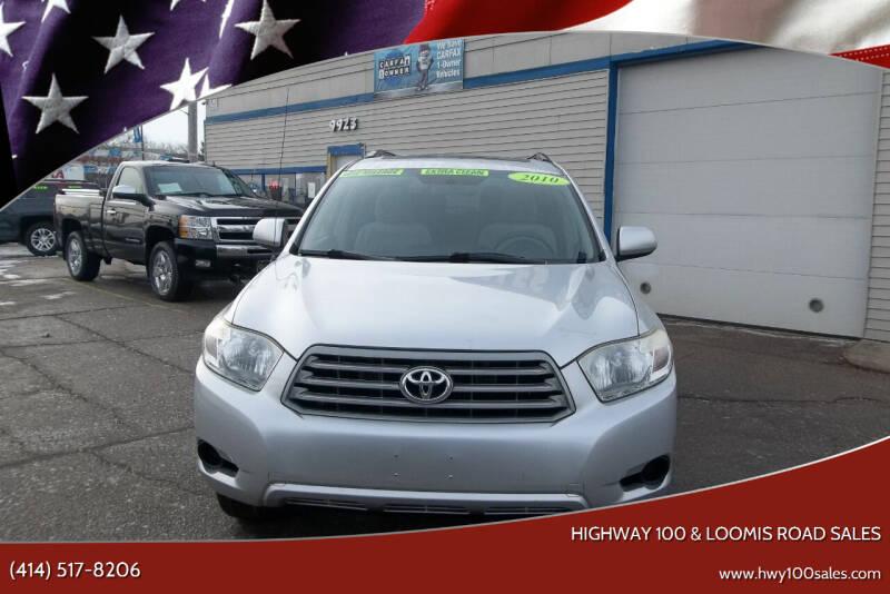 2010 Toyota Highlander for sale at Highway 100 & Loomis Road Sales in Franklin WI