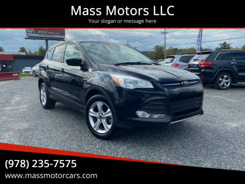2014 Ford Escape for sale at Mass Motors LLC in Worcester MA