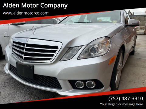 2010 Mercedes-Benz E-Class for sale at Aiden Motor Company in Portsmouth VA