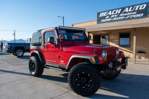 2006 Jeep Wrangler for sale at Beach Auto and RV Sales in Lake Havasu City AZ