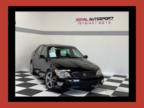 2002 Lexus IS 300 for sale at Royal AutoSport in Sacramento CA