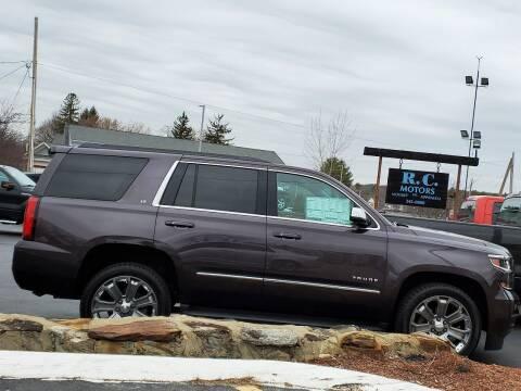 2016 Chevrolet Tahoe for sale at R C Motors in Lunenburg MA