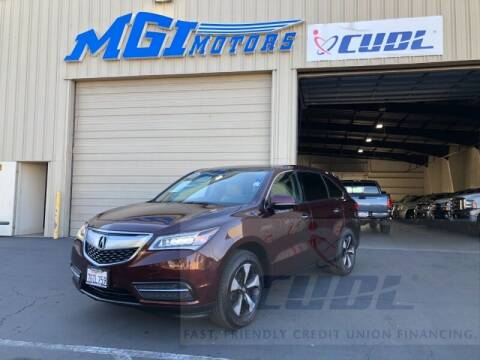 2015 Acura MDX for sale at MGI Motors in Sacramento CA