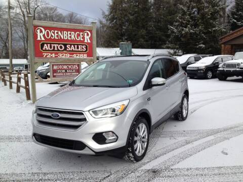 2017 Ford Escape for sale at Rosenberger Auto Sales LLC in Markleysburg PA