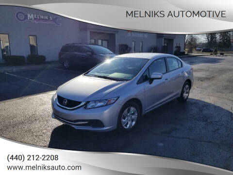 2014 Honda Civic for sale at Melniks Automotive in Berea OH