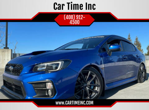 2018 Subaru WRX for sale at Car Time Inc in San Jose CA