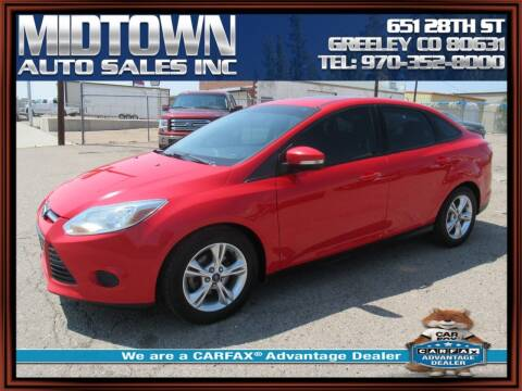 2014 Ford Focus for sale at MIDTOWN AUTO SALES INC in Greeley CO