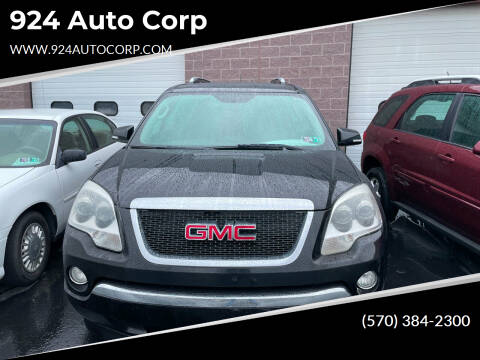 2009 GMC Acadia for sale at 924 Auto Corp in Sheppton PA