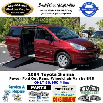2004 Toyota Sienna for sale at Wheelchair Vans Inc - New and Used in Laguna Hills CA