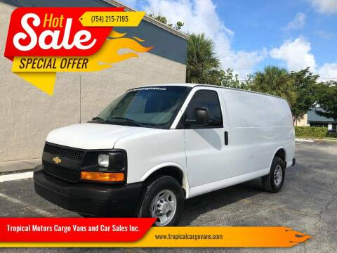 2017 Chevrolet Express Cargo for sale at Tropical Motors Cargo Vans and Car Sales Inc. in Pompano Beach FL