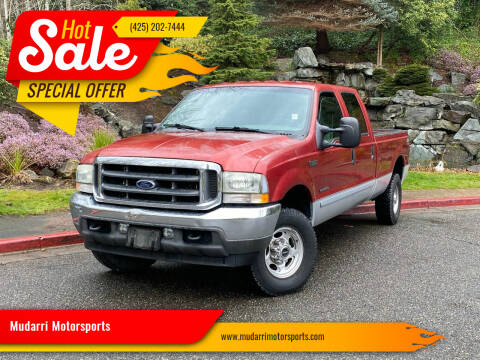 2002 Ford F-250 Super Duty for sale at Mudarri Motorsports in Kirkland WA