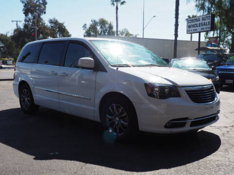 2015 Chrysler Town and Country for sale at Corona Auto Wholesale in Corona CA