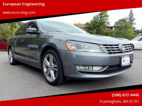 2014 Volkswagen Passat for sale at European Engineering in Framingham MA