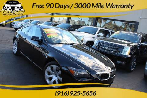 2006 BMW 6 Series for sale at West Coast Auto Sales Center in Sacramento CA