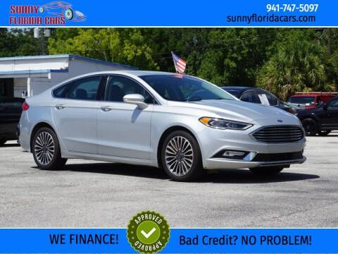 2018 Ford Fusion for sale at Sunny Florida Cars in Bradenton FL