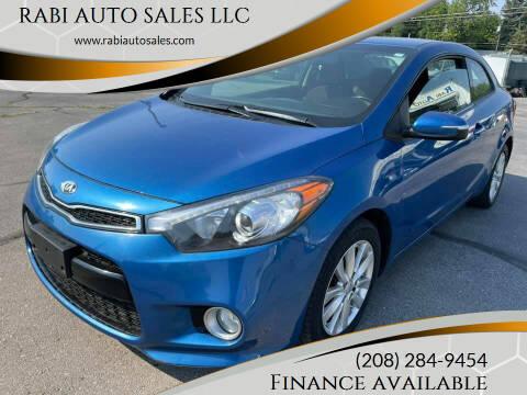 2014 Kia Forte Koup for sale at RABI AUTO SALES LLC in Garden City ID