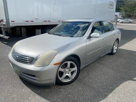 2003 Infiniti G35 for sale at Giordano Auto Sales in Hasbrouck Heights NJ