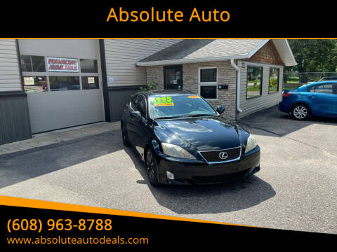 2007 Lexus IS 250 for sale at Absolute Auto in Baraboo WI