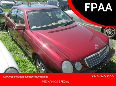 2002 Mercedes-Benz E-Class for sale at FPAA in Fredericksburg VA