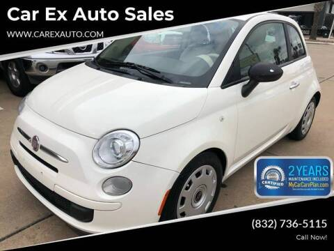 2013 FIAT 500 for sale at Car Ex Auto Sales in Houston TX