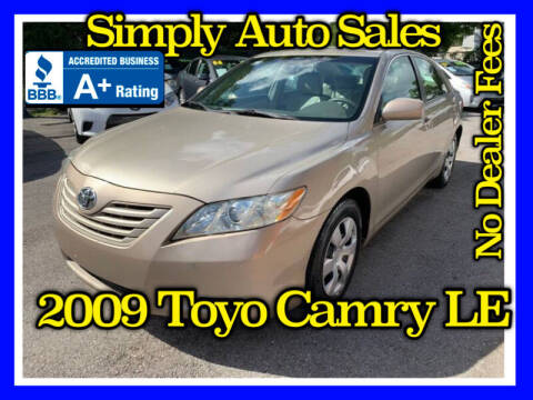 2009 Toyota Camry for sale at Simply Auto Sales in Palm Beach Gardens FL