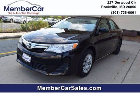2013 Toyota Camry for sale at MemberCar in Rockville MD