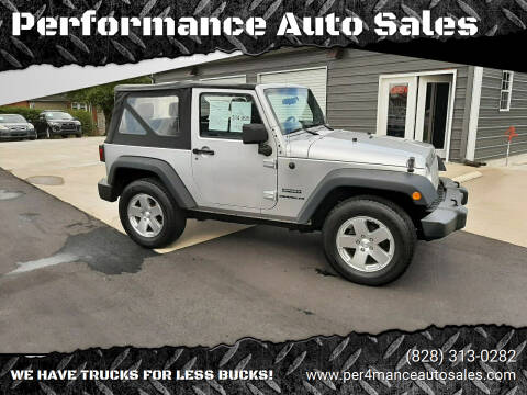 2010 Jeep Wrangler for sale at Performance Auto Sales in Hickory NC