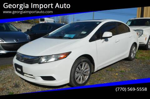 2012 Honda Civic for sale at Georgia Import Auto in Alpharetta GA