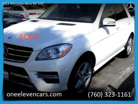 2013 Mercedes-Benz M-Class for sale at One Eleven Vintage Cars in Palm Springs CA