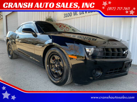 2013 Chevrolet Camaro for sale at CRANSH AUTO SALES, INC in Arlington TX