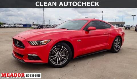 2017 Ford Mustang for sale at Meador Dodge Chrysler Jeep RAM in Fort Worth TX