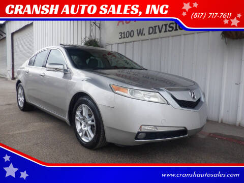 2009 Acura TL for sale at CRANSH AUTO SALES, INC in Arlington TX