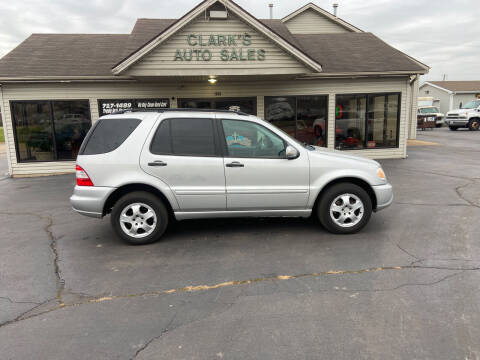2002 Mercedes-Benz M-Class for sale at Clarks Auto Sales in Middletown OH