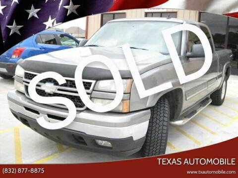 2006 Chevrolet Silverado 1500 for sale at TEXAS AUTOMOBILE in Houston TX