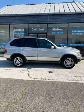 2003 BMW X5 for sale at Georgia Certified Motors in Stockbridge GA