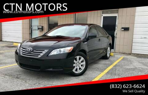 2007 Toyota Camry Hybrid for sale at CTN MOTORS in Houston TX
